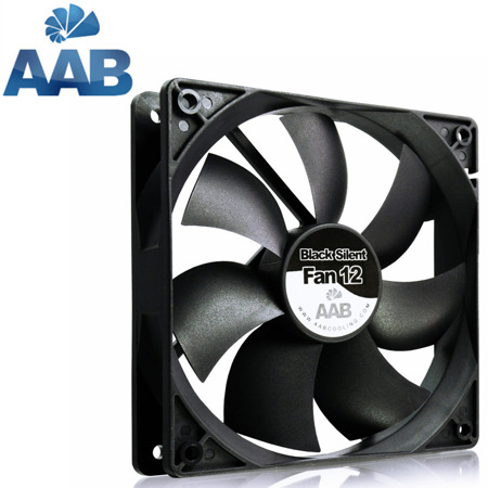 AAB Cooling Black Silent Fan 12 1600 rpm