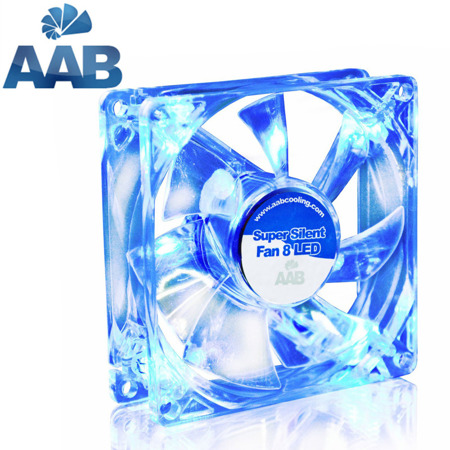 AAB Cooling Super Silent Fan 8 BLUE LED