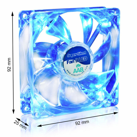 AAB Cooling Super Silent Fan 9 BLUE LED