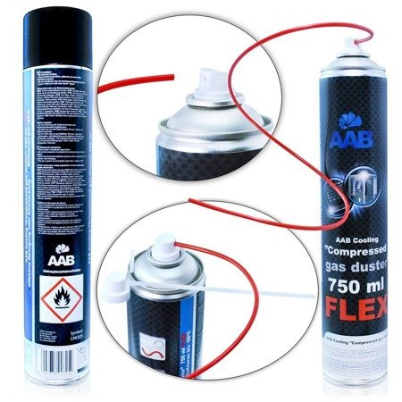 AABCOOLING Compressed Gas Duster FLEX 750ml