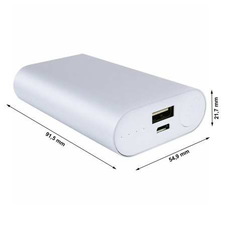NonStop PowerBank Allu Silver 4000mAh